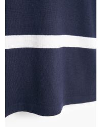 Mango - Blue Striped Jersey Dress - Lyst