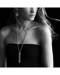 David Yurman - Metallic Cable Classics Tassel Pendant Necklace With Diamonds - Lyst