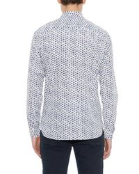 Burberry Brit | White Ancell Dot-Print Silk And Cotton-Blend Shirt for Men | Lyst