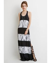 Forever 21 | Black Tie-dye Macramé Maxi Dress | Lyst