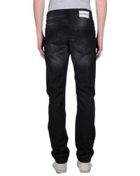 Bikkembergs - Black Denim Pants for Men - Lyst