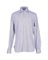 Kiton - Blue Shirt for Men - Lyst