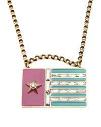 Lanvin - Multicolor 'calvi' Flag Necklace - Lyst