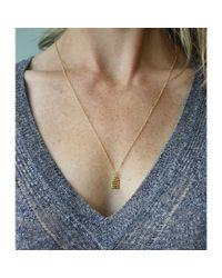 Peyton William Handmade Jewelry | Metallic Tablet 18kt Gold Filled Necklace | Lyst