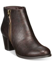 Rialto | Brown Chandelier Casual Booties | Lyst