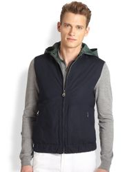 Ferragamo | Blue Reversible Nylon Quilted Vest for Men | Lyst