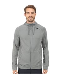 Nike | Gray Dri-fit™ Touch Fleece Full-zip Hoodie for Men | Lyst