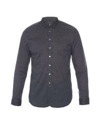 John Varvatos | Black Long-sleeved Cotton Shirt for Men | Lyst