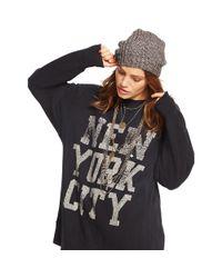 Denim & Supply Ralph Lauren - Black Drapey Graphic Sweatshirt - Lyst