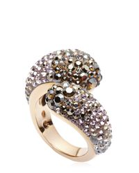 Swarovski | Metallic Rose-Gold Tone Accented Ring Size 8 | Lyst
