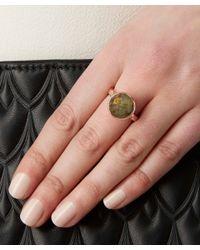 Monica Vinader - Metallic Rose Gold-plated Labradorite Medina Facet Ring - Lyst