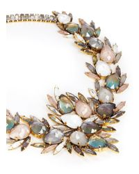 Erickson Beamon | Metallic 'sound Garden' Crystal Wreath Necklace | Lyst