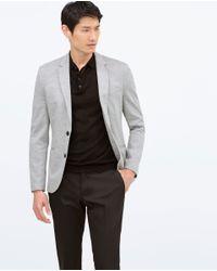 Zara   Gray Basic Blazer for Men   Lyst