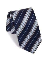 Eton of Sweden | Blue Stripe Silk Tie for Men | Lyst