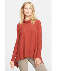 Free People | Red Handkerchief Hem Sweater | Lyst
