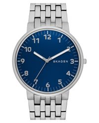 Skagen - Metallic 'ancher' Bracelet Watch for Men - Lyst