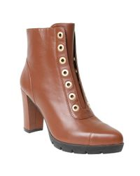 William Rast | Brown Carly Grommet Ankle Boots | Lyst