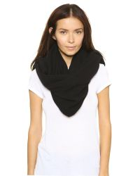 White + Warren - Black Cashmere Two Way Angled Poncho - Fog Heather - Lyst