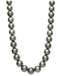Macy's - Multicolor Tahitian Pearl Strand Necklace In 14k Gold (15mm) - Lyst