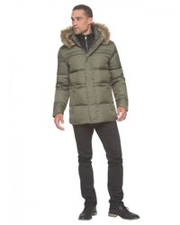 Marc New York - Green Water-Resistant Quilted Parka Jacket  for Men - Lyst