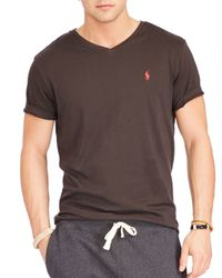 Ralph Lauren - Brown Polo Jersey V-neck Tee for Men - Lyst