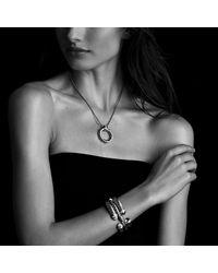 David Yurman | Metallic Waverly Bracelet With Diamonds And Gold, 5mm | Lyst