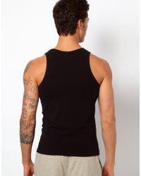 Emporio Armani | Black Stretch Cotton Tank Slim Fit for Men | Lyst