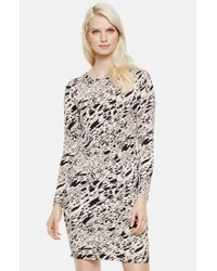 Vince Camuto | Black 'current Medley' Print Long Sleeve Dress | Lyst