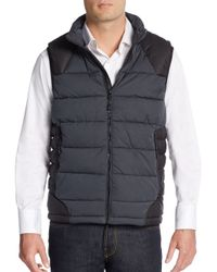Robert Graham | Black Tailored-fit Stratford Quilted Blocked Vest | Lyst