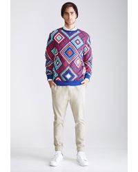 Forever 21 | Blue Print Sweatshirt for Men | Lyst