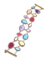 Lauren by Ralph Lauren - Metallic Semiprecious Stone Cuff Bracelet - Lyst