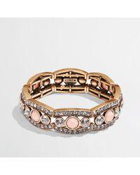 J.Crew - Pink Factory Crystal Peach Bracelet - Lyst