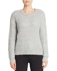 424 Fifth | Gray Drop-shoulder Sweater | Lyst