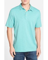 Tommy Bahama | Blue 'portside Player Spectator' Space Dye Polo for Men | Lyst