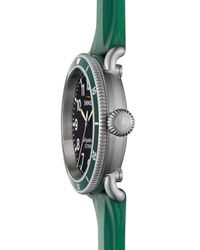 Shinola - Green 48Mm Runwell Sport Watch With Rubber Strap - Lyst