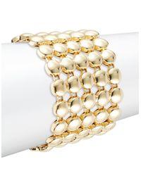 R.j. Graziano | Metallic Spherical Chain Link Bangle Bracelet | Lyst