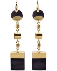 Isabel Marant | Black Brass And Buffalo Horn Wedge Earrings | Lyst