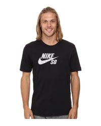Nike | Black Dri-fit Sb Geo Dye Icon Tee for Men | Lyst