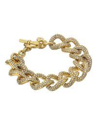 Michael Kors - Metallic Brilliance Curb Link Toggle Bracelet - Lyst