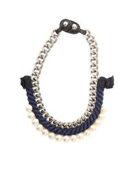3.1 Phillip Lim - Blue Rope/pearl Necklace - Lyst