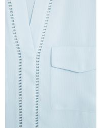 Mango - Blue Pocket Shirt - Lyst