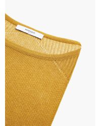 Mango | Yellow Openwork Sweater | Lyst