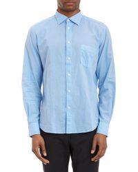 Hartford - Blue Washed Voile Shirt for Men - Lyst