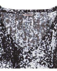 H&M - Black + Patterned Top - Lyst