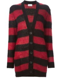 RED Valentino - Red Striped Long Cardigan - Lyst