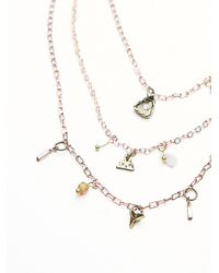 Free People | Pink Womens Cherish 3 Chain Necklace | Lyst