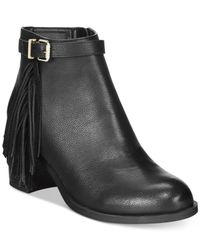 Circus by Sam Edelman | Black Jolie Fringe Ankle Booties | Lyst