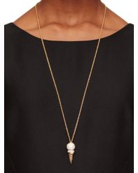 kate spade new york - Natural Carnival Nights Ice Cream Pendant - Lyst