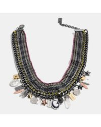 COACH - Multicolor Multi Charm Necklace - Lyst