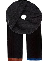 Paul Smith | Black Mixed Knit Scarf for Men | Lyst